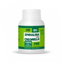 Spirulina Plus Chlorella Algen, 100 Tabletten